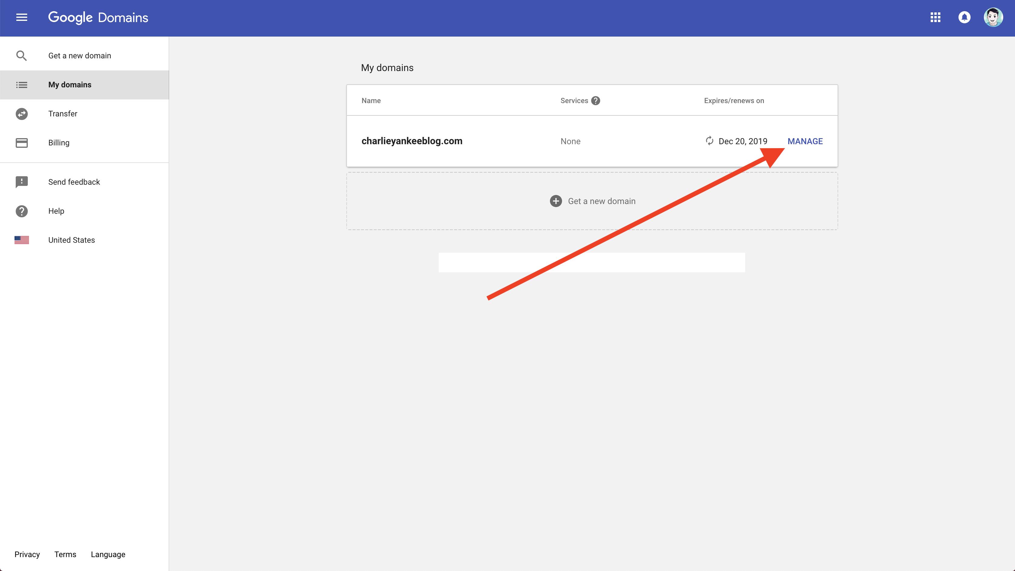 Google Domain Register